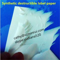synthetic destructible vinyL security paper