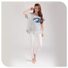 Apparel & Fashion Shirts & Blouses YUSON Short sleeves T-shirt with big eye printing Bamboo fiber 9 colors