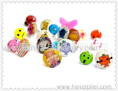 metal button shape push pins paper clips bookmarks