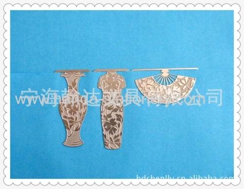 vase cheongsam fanshape creative bookmarks paper clips