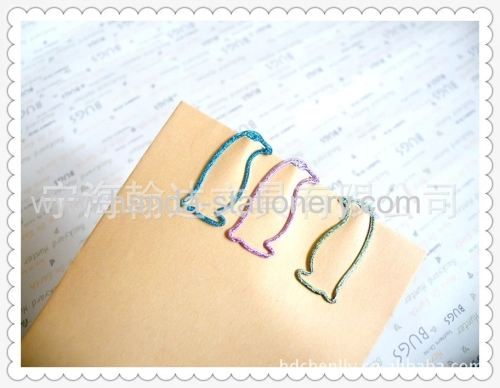 cartoon colourful horse penguin snoopy bookmarks paper clips