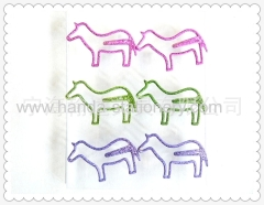 cartoon colourful horse penguin dog bookmarks paper clips