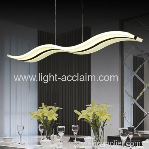 2015 new design wave acrylic LED Chandelier Acrylic led chandelier lamps