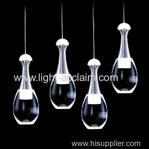 Perfume glass bottle Chandelier led pendant lighting Bar chandelier crystal lamp