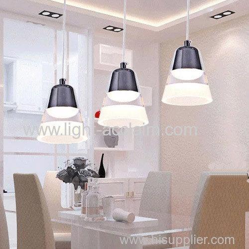 Wind chime acrylic Chandelier LED crystal lamp three head pendant lamp