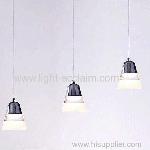 Wind chime acrylic Chandelier LED crystal lamp three head pendant lamp