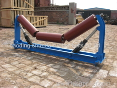 Carrier trough roller for conveyor rubber guide roller