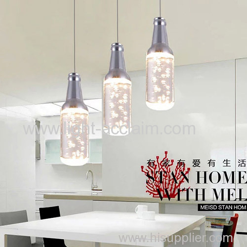 The wine bottle LED bubble crystal pendant lighting LED energy saving lamp