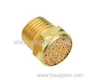 Pneumatic silencer for valves 1/8 M5 air muffler brass plug connector 1/4
