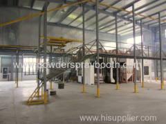 Conveyor Powder Coating Plant For Furniture