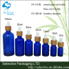 cosmetic package medical oil bamboo dropper glass bottle with glass tube cobalt blue glass essential oil bottle