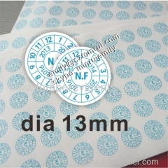 Small round warranty void if seal broken stickers for repair use from China