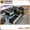 Black and white color modern glass tv stand