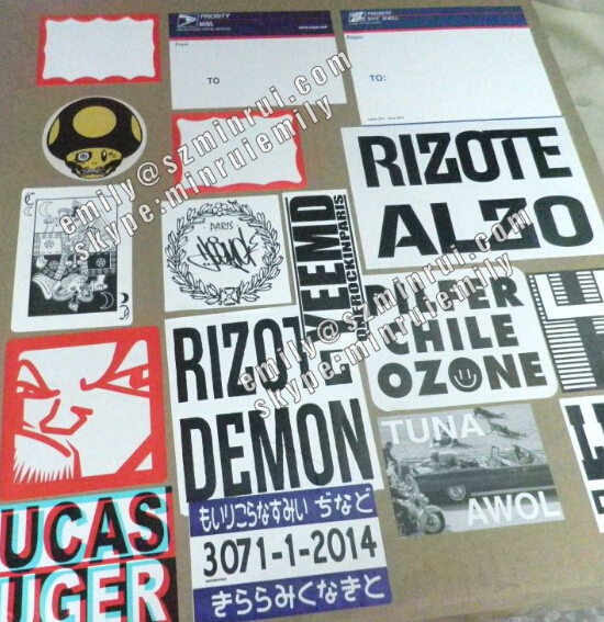 Custom Destructible Vinyl Eggshell Graffiti Stickers High Quality - Graffiti custom vinyl stickers