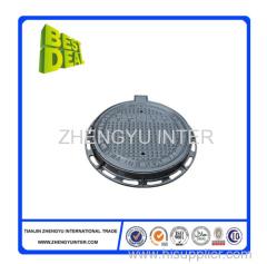 Black bitumen coated sand iron manhole cover casting parts