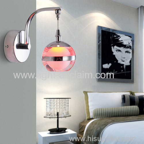 Creative lighting acrylic led bedside lamp apple hardware acrylic wall fishing lamp