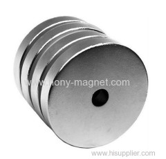 Rare Earth Double Ni Sintered Ndfeb Magnet Disc Shape