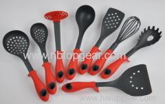 Plastic nylon kitchen utensil set