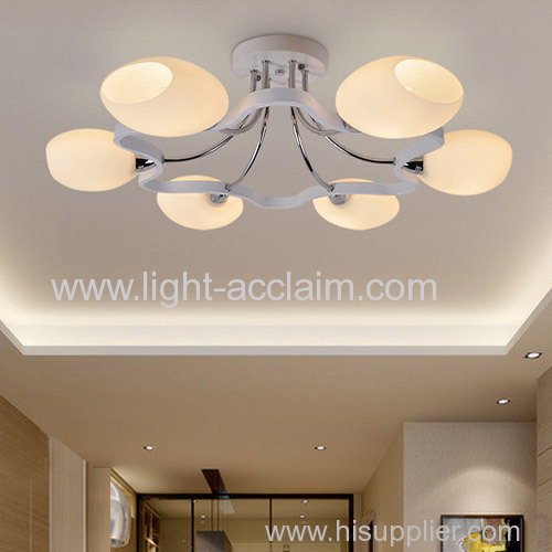 Modern guest bedroom ceiling lamp room glass led ceiling lights The flower type ceiling lamps