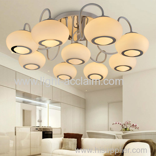 Originality glass lighting for home glass shaped ceiling lamps