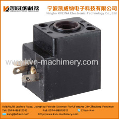Magnetic valve coil for spinning machine