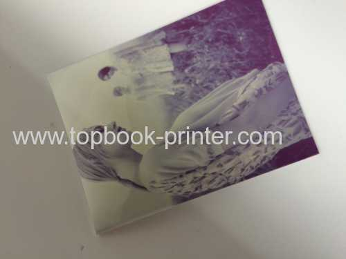 Printable PVC cover star smooth paper design backless paperback book printing on demands