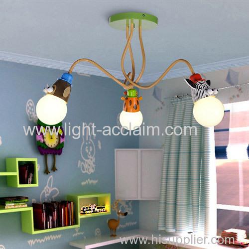 Creative children's cartoon lamp cartoon droplight the glass ceiling lamps