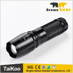 3w led aluminum telescopic dynamo flashlight