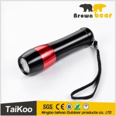 aluminum 9led lr44 torch flashlight