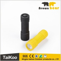 low power 3*aaa battery 10 color led flashlight