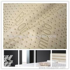 Jacquard mattress fabric knitted