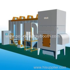 Multi-cyclone+ after filters recovery system Spray Booth