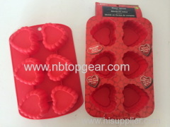 6 Heart shape silicone cake mold silicone bakeware