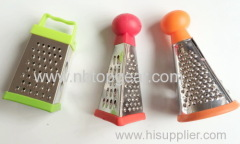 Mini round rectangle triangle plastic manual cheese grater