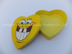 Unique cute heart shaped SpongeBob SquarePants paper packaging box