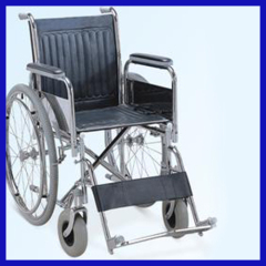 electroplated manual foldable standard wheelchair size