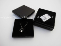 small black jewelry paper box with insert for necklace earing bracelet