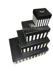 Rectangle customized paper gift box with lid