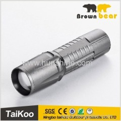 XPG zoomable flashlight battery operated torch