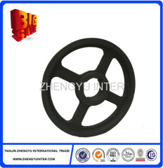 High quality coated sand ductile iron pulleys casting parts