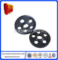 Customized coated sand cast Iron Belt Pulley Casting Parts