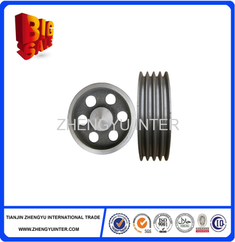 Easy to use and Durable resin sand cast iron v belt pulley belt pulley casting parts