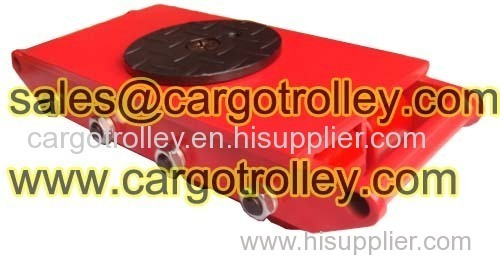Cargo trolley can turns direction easily