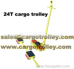 Hand moving trolley moving heavy duty equipment safety and easily
