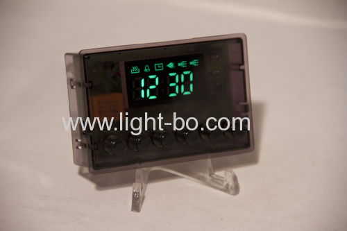 Ultra blue led 7 segment display for microwave oven timer