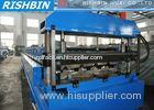 Floor Tile / Roof Wall Panel Roll Forming Machine with Gear Box Transmission