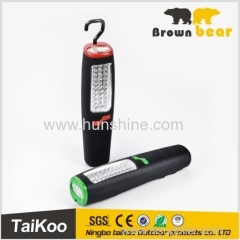 battery powered led work light with 30+7led