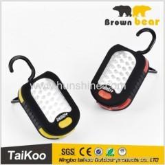 usefully hanging hook work light led light with super bright 24+3leds
