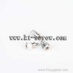 long stainless steel M8 half machine screws