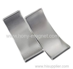 Permanent Magnet with Arc Shape/Nickel/Zinc Coating